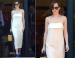 Dakota Johnson In Apiece Apart - Out In Barcelona
