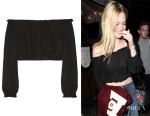 Elle Fanning's Elizabeth and James 'Denny' Cropped Off-The-Shoulder Top