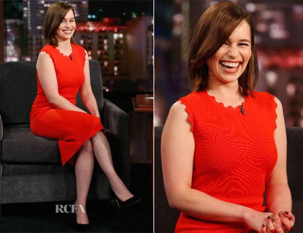 Emilia Clarke In ALC - Jimmy Kimmel Live