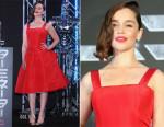 Emilia Clarke In Christian Dior - 'Terminator Genisys' Tokyo Premiere