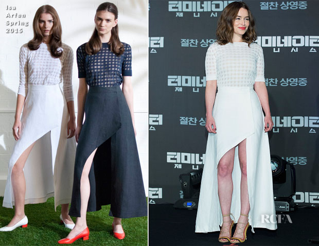 Emilia Clarke In Isa Arfen - 'Terminator Genisys' Korean Press Conference