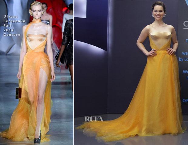 Emilia Clarke In Ulyana Sergeenko Couture -  'Terminator Genisys'  Seoul Premiere
