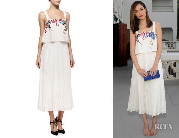 Emmy Rossum's Elle Sasson 'Luana' Embellished Dress