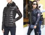 Eva Longoria's Canada Goose 'Hybridge' Lite Hooded Jacket