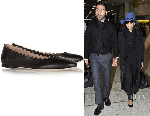 Eva Longoria's Chloé 'Lauren' Leather Ballet Flats