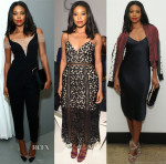 Gabrielle Union In Noam Hanoch, Self-Portrait & Rag & Bone - NYFWM Spring 2016 Front Row