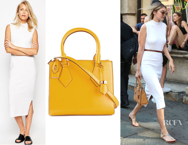 Gigi Hadid's ASOS Midi Tank Dress And Michael Kors 'Casey' Tote