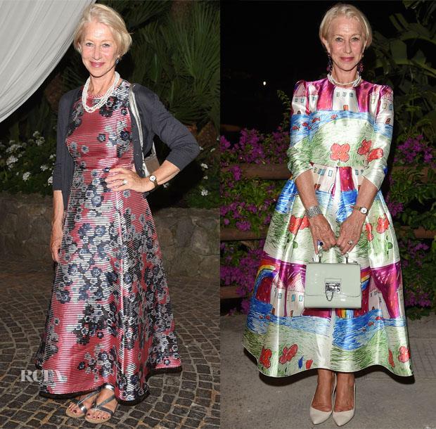 Helen Mirren In LK Bennett & Dolce & Gabbana - 2015 Ischia Global Film & Music Fest