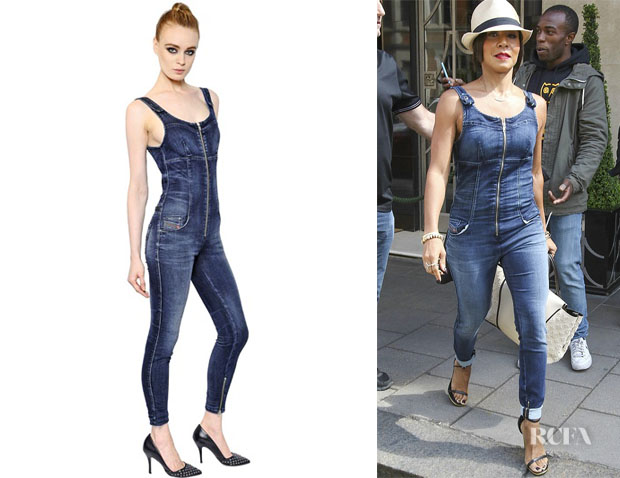 Jada Pinkett Smith's Diesel Denim Jumpsuit