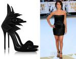 Jada Pinkett-Smith's Giuseppe Zanotti 'Coline' Crystal-Embellished Sandals