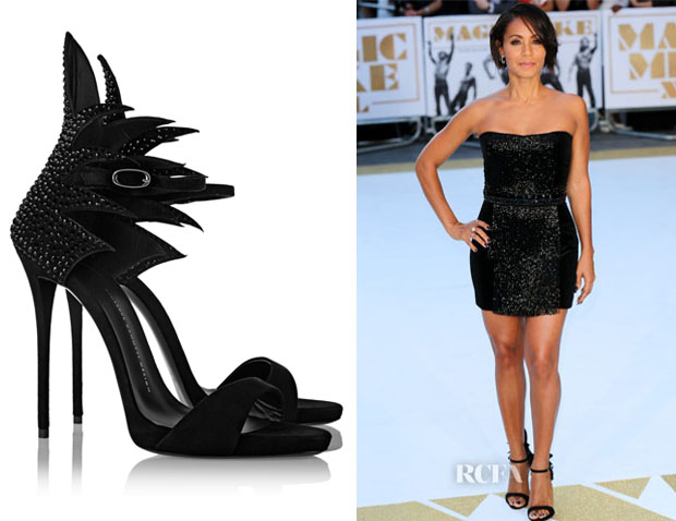 Jada Pinkett-Smith's Giuseppe Zanotti 'Coline' Crystal-Embellished Sandals