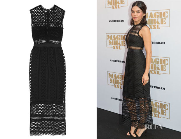 Jenna Dewan-Tatum's  Self-Portrait Macramé Lace Midi Dress