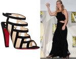 Jennifer Lawrence's Christian Louboutin 'Nicobar' Caged Sandals