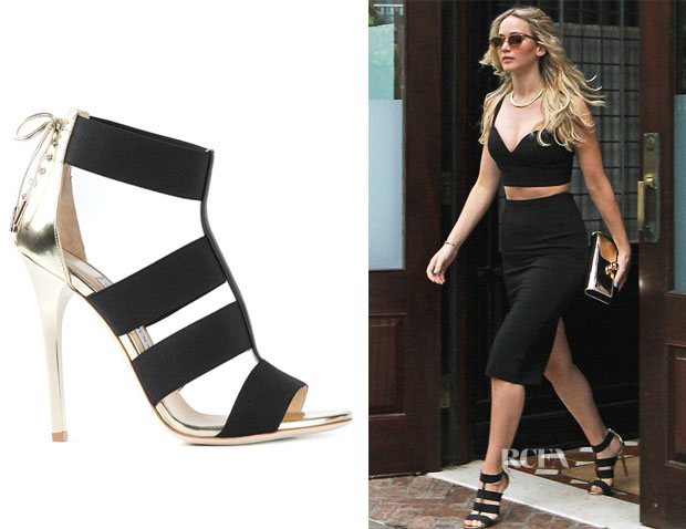 Jennifer Lawrence's Jimmy Choo 'Dario' Sandals