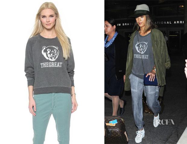 Jessica Alba's The Great 'The Bear' Sweatshirt