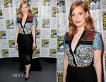 Jessica Chastain In Preen - 'Crimson Peak' Comic-Con 2015 Press Line