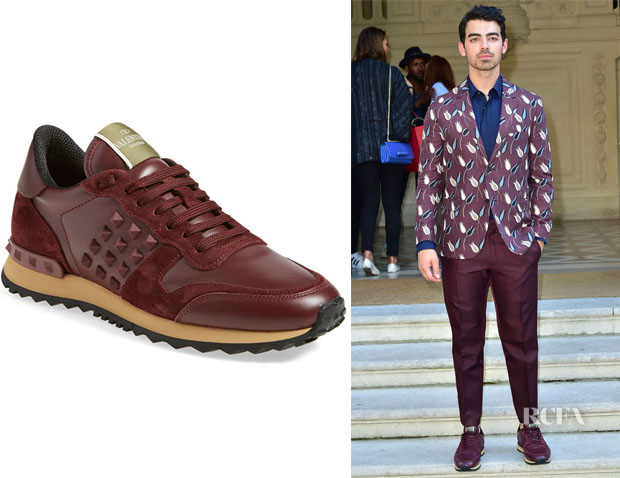 Joe Jonas' Valentino 'Rockrunner' Sneakers
