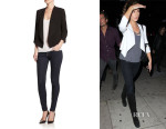 Kate Beckinsale's Alice + Olivia 'Oliver' Draped Blazer
