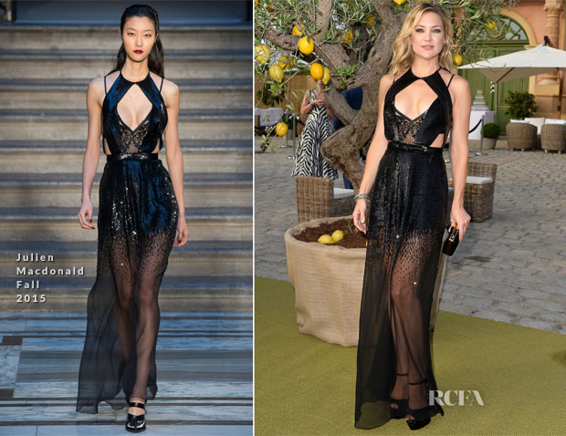 Kate Hudson In Julien Macdonald -  The Leonardo DiCaprio Foundation 2nd Annual Saint-Tropez Gala