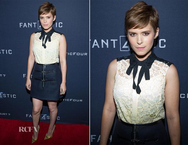 Kate Mara In Louis Vuitton - 'Fantastic Four' Atlanta  Screening