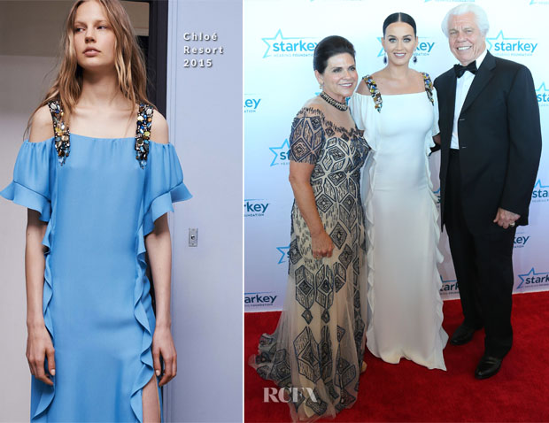 Katy Perry In Chloé &  Monique Lhuillier - 2015 Starkey Hearing Foundation 'So The World May Hear' Gala