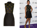 Kerry Washington's Mary Katrantzou Sequin-Embellished Jacquard Dress