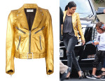 Kourtney Kardashian's Saint Laurent Classic Biker Jacket
