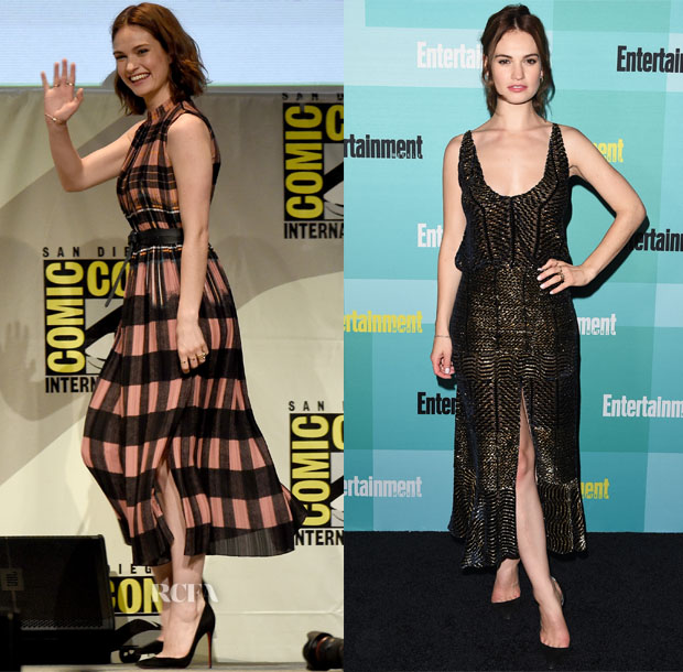 Lily James In Victoria, Victoria Beckham & Altuzarra - 'Pride and Prejudice and Zombies' Panel & Entertainment Weekly's Annual Comic-Con Party