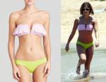 Lucy Hale's Zimmermann 'Pivot Flip' Bandeau Bikini