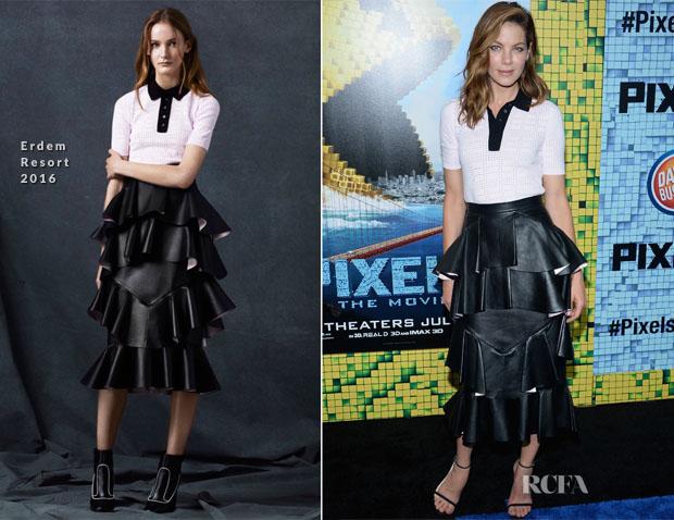 Michelle Monaghan In Erdem - 'Pixels' New York Premiere