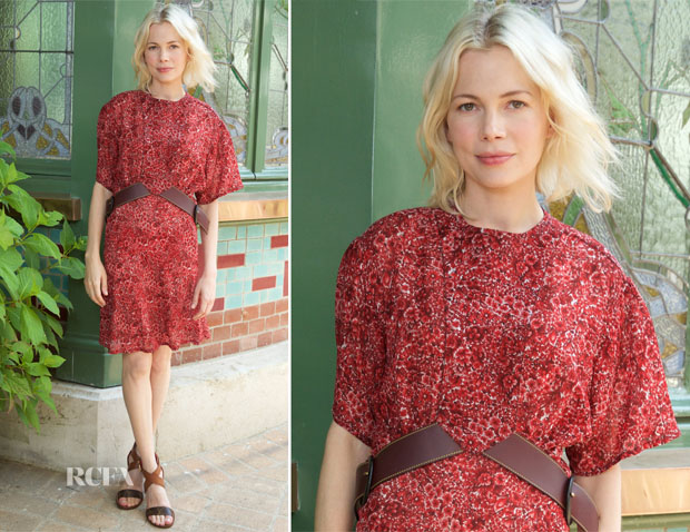 Michelle Williams In Louis Vuitton - Galerie Opening