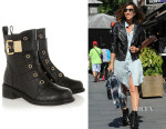 Myleene Klass' Giuseppe Zanotti Croc-Effect Leather Ankle Boots