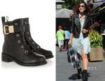 Myleene Klass' Giuseppe Zanotti Croc-Effect Leather Ankle Boots
