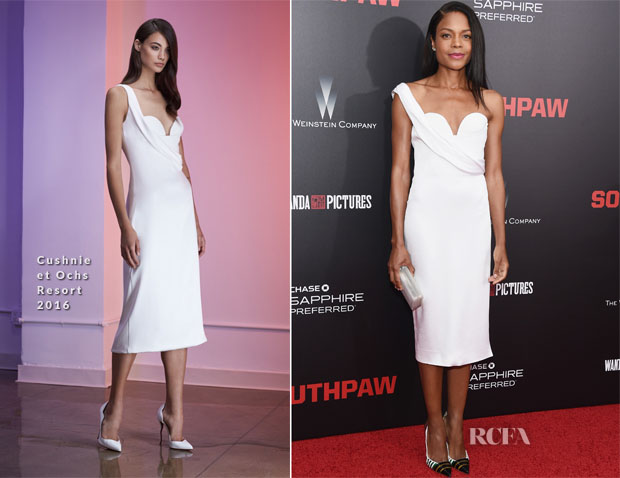 Naomie Harris In Cushnie et Ochs - 'Southpaw' New York Premiere