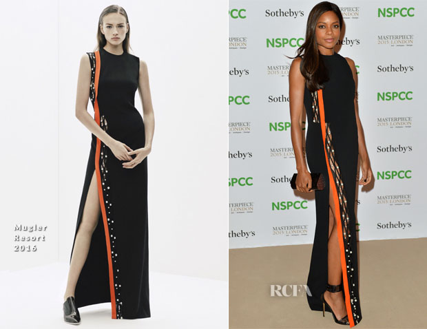 Naomie Harris In Mugler - NSPCC Neo-Romantic Art Gala
