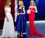 Natalia Vodianova In Ulyana Sergeenko Couture - Preliminary Draw of the 2018 FIFA World Cup