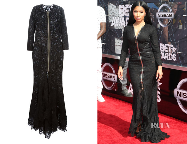 Nicki Minaj's Givenchy Flared Floral Lace Gown