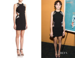 Olivia Cooke's Christopher Kane Embellished Cut-Out Dress