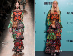 Poppy Delevingne In Valentino - Tiffany & Co. Exhibition 'Fifth And 57th' Opening Night