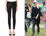 Poppy Delevingne's J Brand 'L8001' Super-Skinny Mid-Rise Leather Leggings