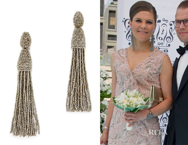 Princess Victoria of Sweden's Oscar de la Renta Tassel Earrings