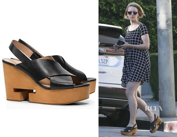 Rachel McAdams' Tory Burch 'Infinity' T Crisscross Clog Sandals