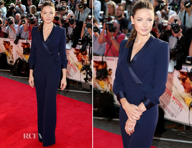 Rebecca Ferguson In Diane von Furstenberg - 'Mission Impossible Rogue Nation' London Screening