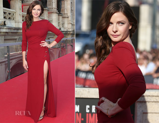Rebecca Ferguson In Elie Saab - 'Mission Impossible - Rogue Nation' World Premiere