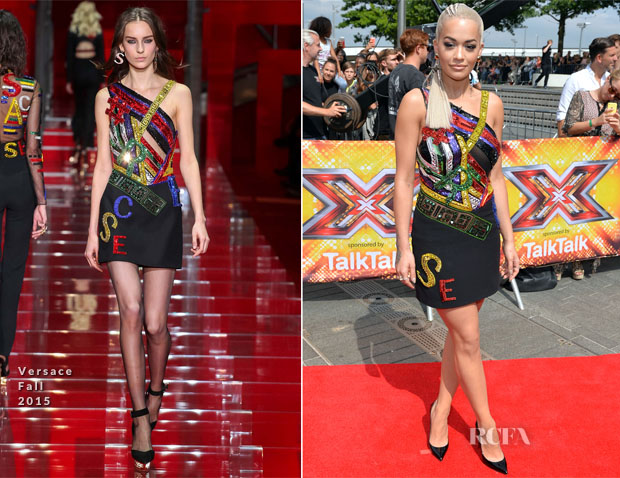 Rita Ora In Versacec - X Factor London Auditions