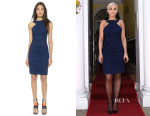 Rita Ora's Dion Lee Chain Woven Racer Dress