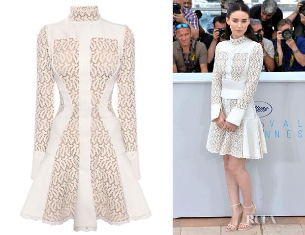 Rooney Mara's Alexander McQueen Broderie Anglaise Mini Dress