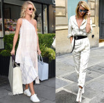 Rosie Huntington-Whiteley In Stella McCartney & Christian Dior - Out In London & Paris
