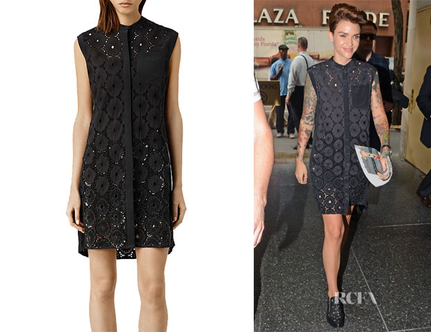 Ruby Rose's All Saints 'Lilja' Shirt Dress11