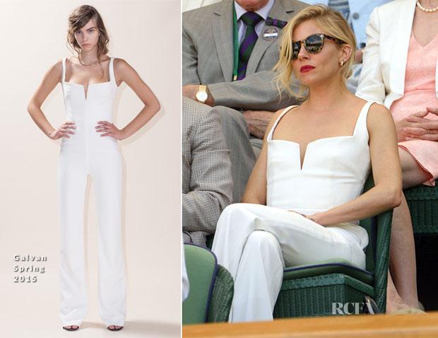 Sienna Miller In Galvan - Wimbledon 2015